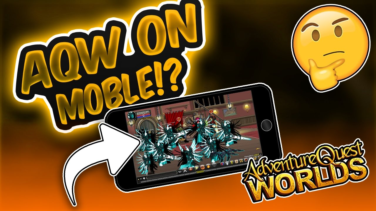 HOW TO PLAY AQW ON MOBILE! IOS/ANDRIOD!