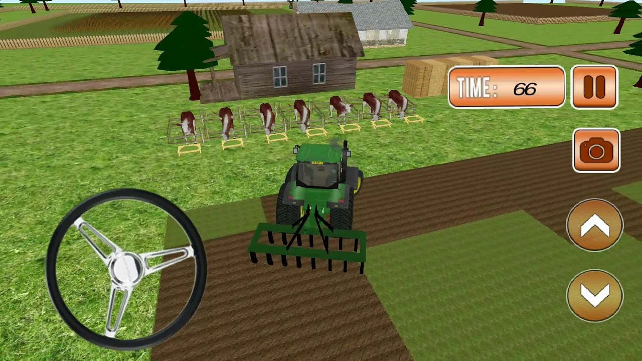 Animal & Hay Transport Tractor Simulator - Android Gameplay