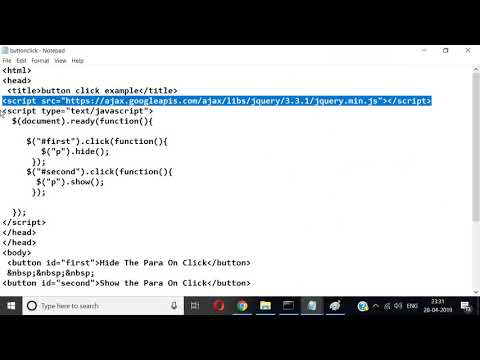 toggle event in jquery - YouTube