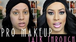 Pro Application: Makeup Tutorial Talk Through!