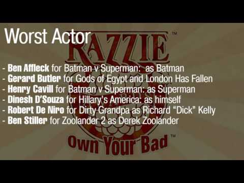 The Razzies announce nominations for the worst films of 2016