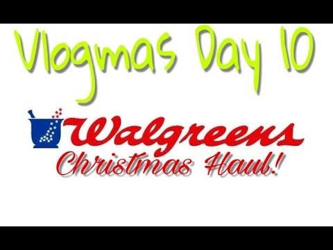 vlogmas day 10 walgreens christmas haul - Walgreens Christmas Day