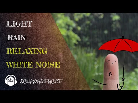 Light Rain Sound ❌ White Noise for Sleep   Stress and Anxiety Relief