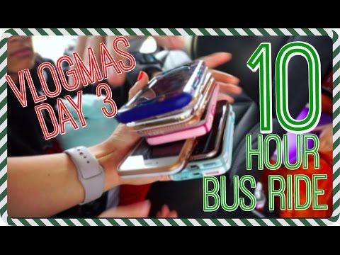 10 Hour Bus Ride||No Phones|| Vlogmas Day 3