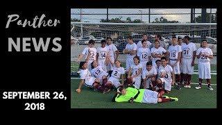 Passport School Panther News September 26, 2018