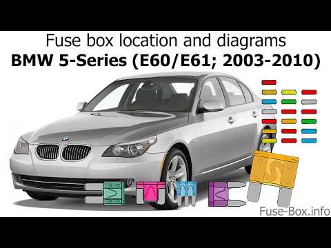 [SCHEMATICS_4JK]  Fuse box location and diagrams: BMW 5-Series (E60/E61; 2003-2010) - YouTube | 2008 Bmw 525i Fuse Box Diagram |  | YouTube