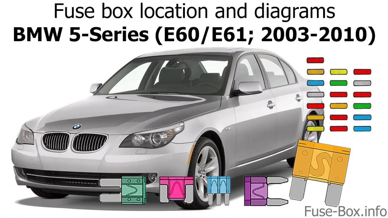 fuse box location and diagrams bmw 5 series e60 e61 2003 2010 bmw 520d f11 fuse box diagram bmw 520d fuse box [ 1280 x 720 Pixel ]