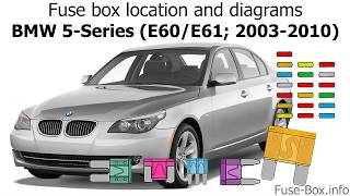 Fuse box location and diagrams: BMW 5-Series (E60/E61; 2003-2010) - YouTube | Bmw E60 Engine Diagram |  | YouTube