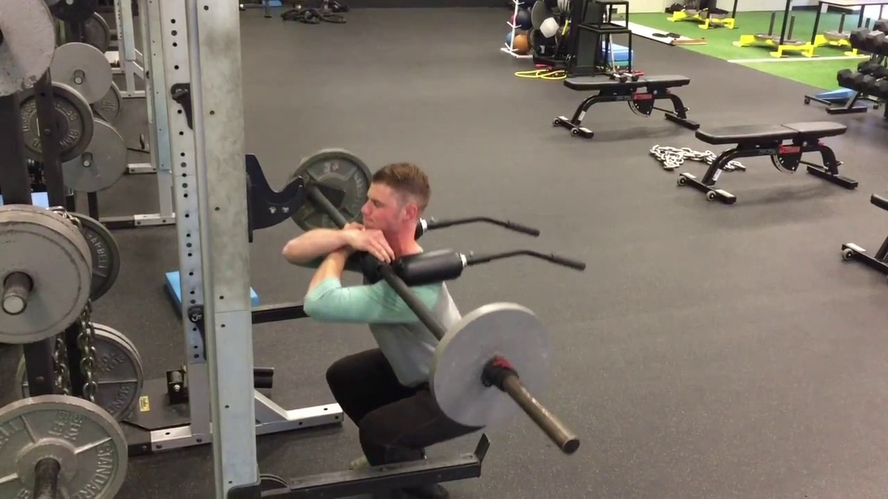 Safety Squat Bar Front Squat - YouTube