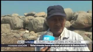 Víctor Larco: Viviendas afectadas por fuertes oleajes