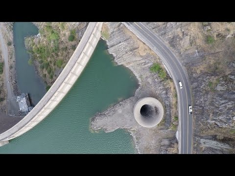 Thumbnail: Lake Berryessa and the Glory Hole during and after drought.