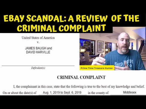 Ebay Scandal Update and Review of the Criminal Complaint from YouTube · Duration:  1 hour 8 minutes 39 seconds
