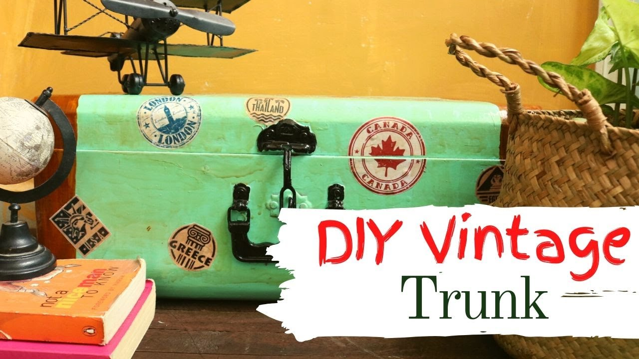 DIY Vintage Trunk Makeover | Metal Trunk Makeover | DIY home decor