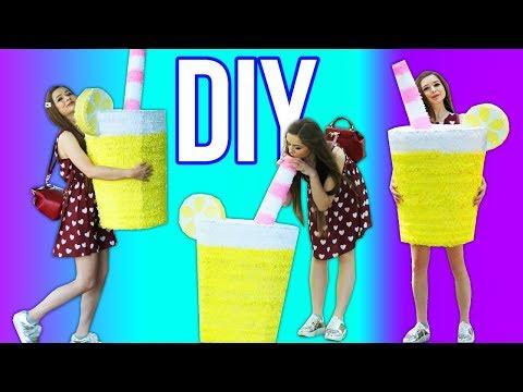 DIY Гигантский лимонад! Бюджетный диайвай из бумаги и картона. Декор комнаты 🐞 Afinka
