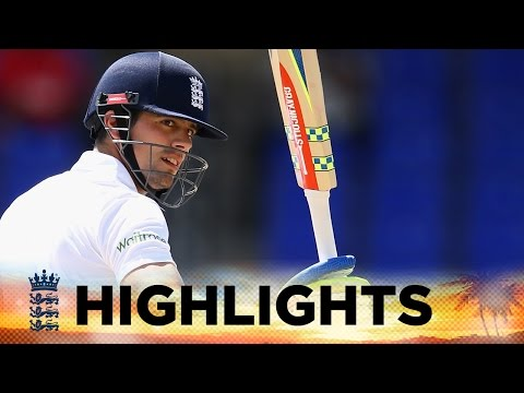 Highlights - Watch the moment England captain Alastair Cook reached his hundred