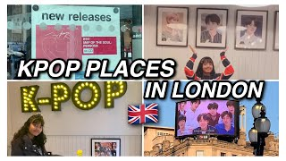 bts / kpop places to visit in london!