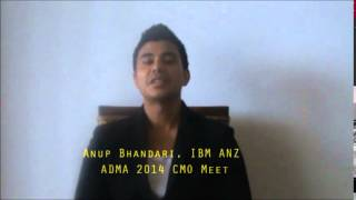ADMA 2014 CMO MEET   - Part  1 of 3 -  Anup Bhandari