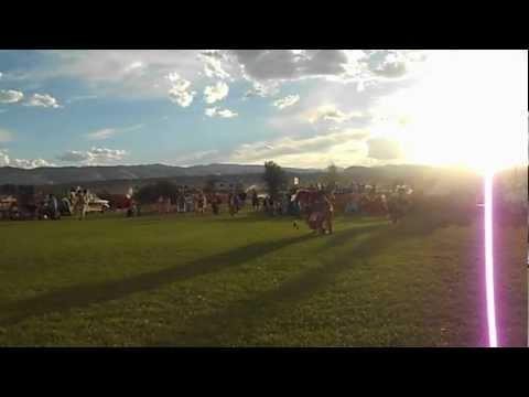 Dance of Members of Eastern Shoshone Tribe in Lander, Wyoming