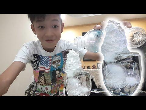【实验室】水瞬间结冰!超神奇!