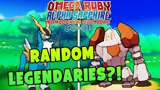 RANDOM LEGENDARY POKEMON?! | Pokemon Omega Ruby Alpha Sapphire RANDOMIZER Nuzlocke Co-Op #2