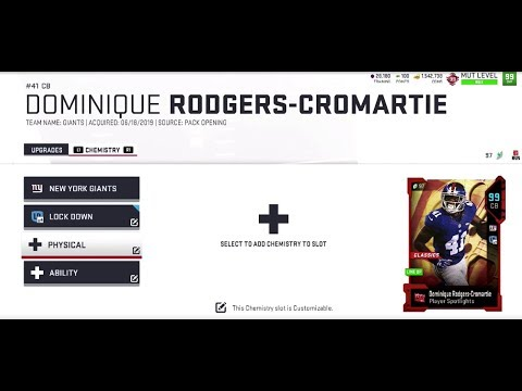 Madden 19 99 OVR 102 Speed DRC! Dominique Rodgers Cromartie 1st Game is a  Sweaty!