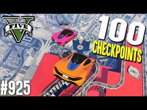 100 CHECKPOINTS Challenge! (+Download) | GTA 5 - Custom Map Rennen