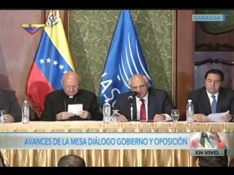Declaraciones de Jorge Rodríguez y Ocariz tras reunión gobierno y MUD, 12 noviembre 2016