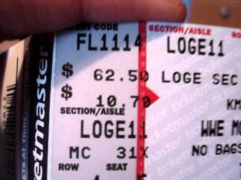 WWE Raw Tickets!!!