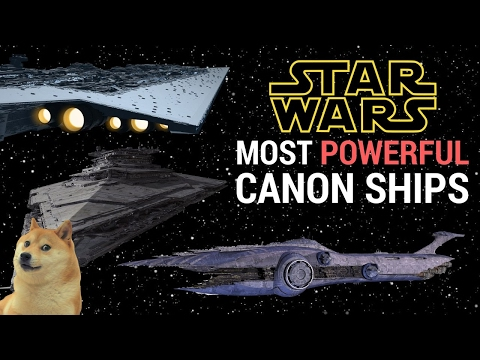 5 Most Powerful Space Ships (Canon) | Star Wars Capital Ships/Dreadnoughts Ranked