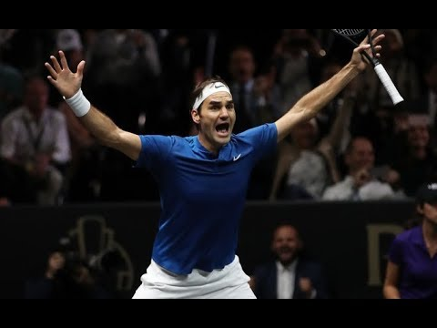 Roger Federer vs Nick Kyrgios - Laver Cup 2017 Highlights HD