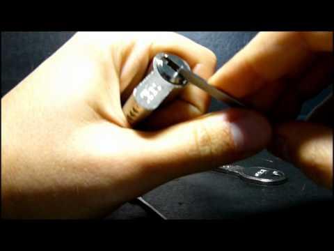 Взлом отмычками ISEO R6 Dimple l  Iseo R6 Dimple lock 6 pins (