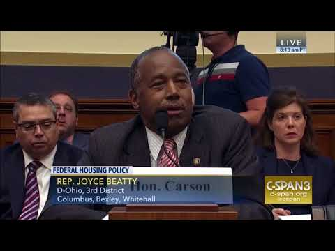 Congresswoman Beatty Grills HUD Secretary Ben Carson at Financial Services House Committee Hearing