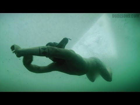 Naked dive under the ice challenge! (The Dudesons)
