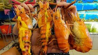 Ăn Tôm càng xanh khổng lồ 4 con 1kg giá gần 1 triệu ở Vựa hải sản 187 Tân Sơn Nhì