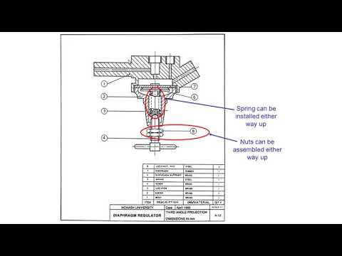 Mechanical Engineering Drawing Tutorials Assembly Drawing