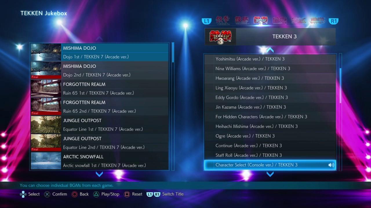 tekken 3 characters list