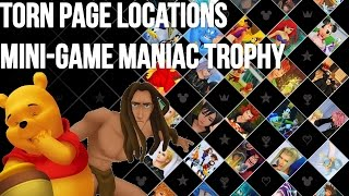 Kingdom Hearts 1.5 Hd - Kingdom Hearts Final Mix - Torn Page Locations, Mini-game Maniac Guide