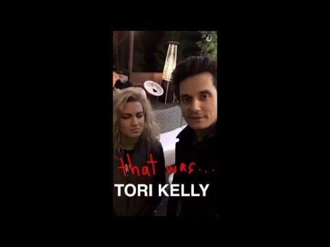 John Mayer Goofs Around With Tori Kelly on Snapchat