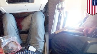 Shrinking airline seats: US airlines still trying to get more people on planes - TomoNews