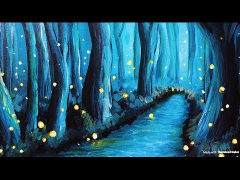 Painting a Twilight Forest with Fireflies