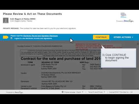 CBP Exchange - How to sign a contract for the sale and purchase of land in NSW