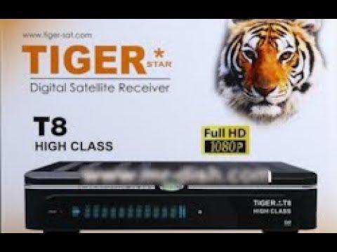 TIGER T8 HIGH CLASS HD RECEIVER LATEST NEW AUTO ROLL POWER VU SOFTWARE