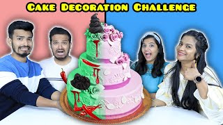 Extreme Cake Decoration Challenge | Food Challenge India | Hungry Birds