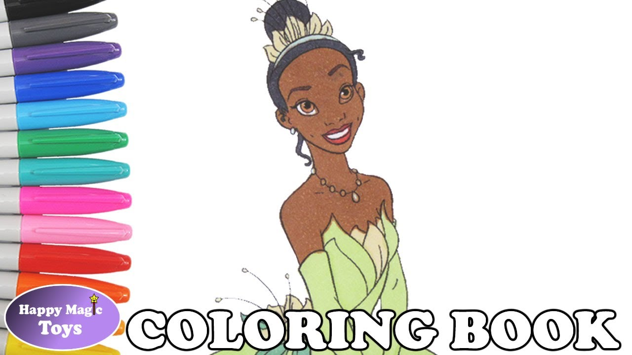 Disney Princess Tiana Coloring Book Pages The Princess and the Frog ...