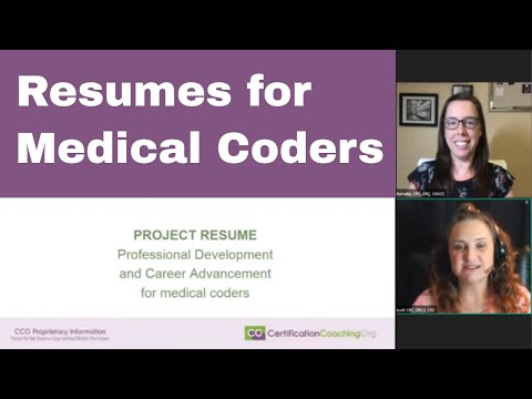 LIVE With CCO #018 | Resumes For Medical Coders And Billers