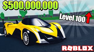 BUYING and UPGRADING MY $500,000,000 HYPER CAR in VEHICLE TYCOON! (Roblox)