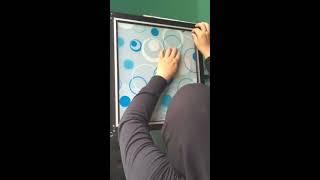 Cara mudah pemasangan sticker kaca untuk kitchen set
