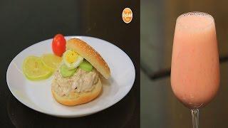 سندوتش تونة بالخضروات والبيض - عصير موز بعين الجمل | سندوتش وحاجة ساقعة حلقة كاملة