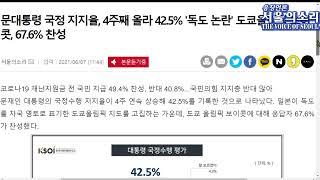[서울의소리 읽어주는 뉴스] 문대통령 지지율, 4주째 …