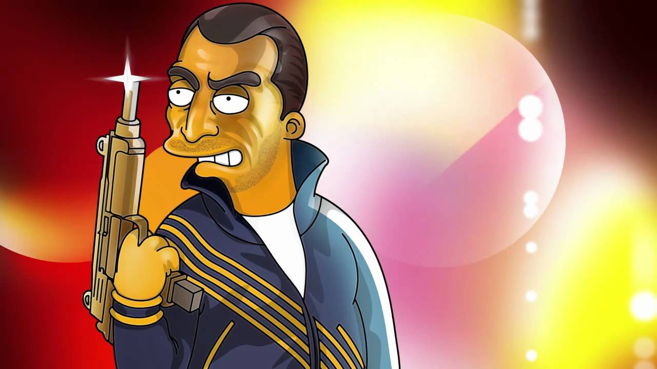 Grand Theft Auto Wallpaper Girl The Simpsons Of Gay Tony Youtube